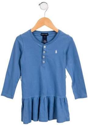 Ralph Lauren Girls' Casual Long Sleeve Dress