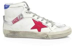 Golden Goose Leather Patch High-Top Sneakers