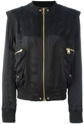Balmain structured shoulder bomber jacket