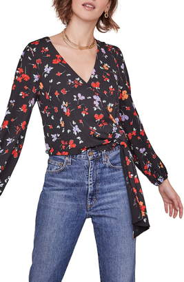ASTR the Label Melanie Floral Wrap Top