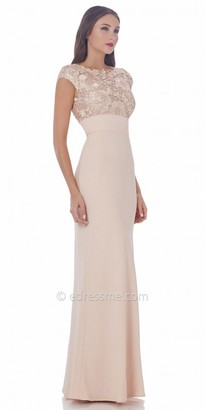 JS Collections Lace Bodice Evening Dress $275 thestylecure.com