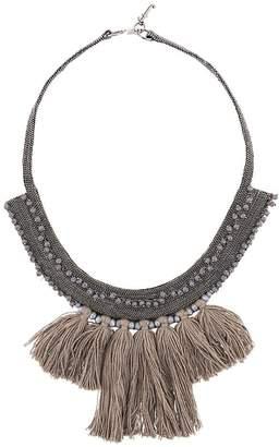 Fabiana Filippi fringe bib necklace
