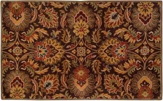 Surya Caesar Black Floral Rug - 7'6'' x 9'6''