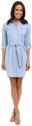 NYDJ Kaylin Chambray Shirt Dress Women's Dress