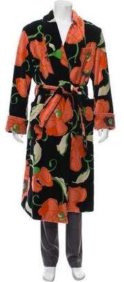 Tom Ford Intarsia Floral Pattern Robe