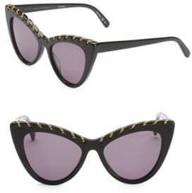 Stella McCartney Women's 52MM Falabella Cat Eye Sunglasses - Black