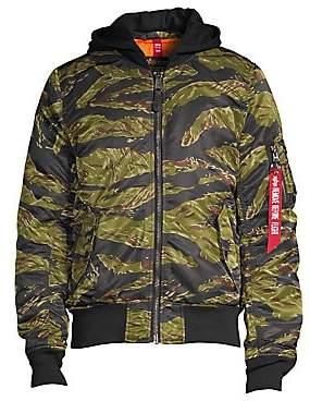 Alpha Industries Men's Natus Tiger Camouflage Nylon Jacket