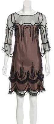 ALICE by Temperley Sheer Mini Dress