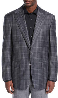 Stefano Ricci Men's Large Plaid Woven Two-Button Sportcoat
