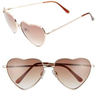 BP Heart Shaped 58mm Sunglasses