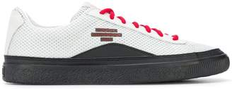 Puma contrast lace-up sneakers