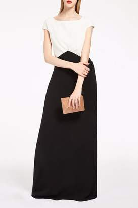 Max Mara Monochrome Evening Gown