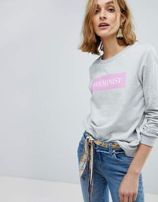 Vero Moda Slogan Sweatshirt