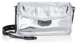 Rag & Bone Field Metallic Leather Clutch