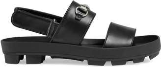 Gucci Leather Horsebit sandal