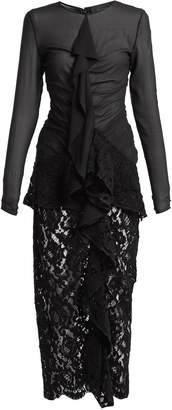 Proenza Schouler Ruffle front lace dress