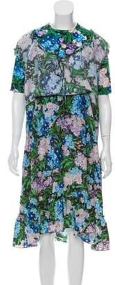 Balenciaga 2018 Wild Flower Maxi Dress Black 2018 Wild Flower Maxi Dress