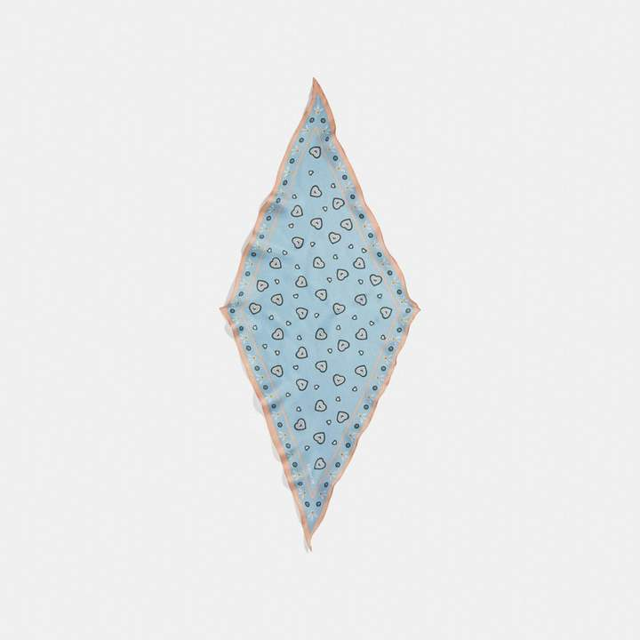 Coach Western Heart Print Silk Diamond