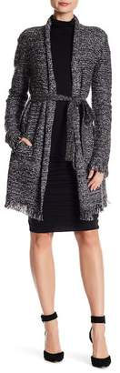 Velvet by Graham & Spencer Frayed Knit Cardigan