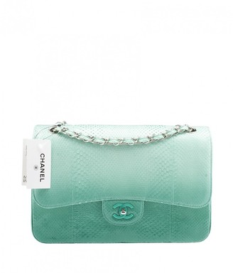 Chanel Timeless/Classique Green Exotic leathers Handbags