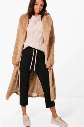 boohoo Tall Mia Teddy Faux Fur Coat