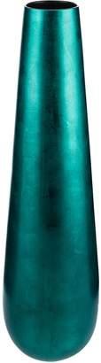 Casa Uno Ceramic Conical Vase, Aqua Blue Large