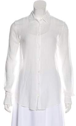 Giada Forte Collection by Long Sleeve Button Up Top