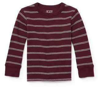 Children's Place The Long Sleeve Striped Thermal Crew Neck Shirt (Toddler Boys)