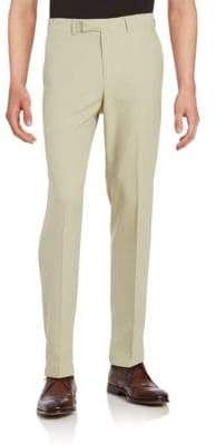Dockers No-Iron Slim-Fit Flat-Front Herringbone Dress Pant
