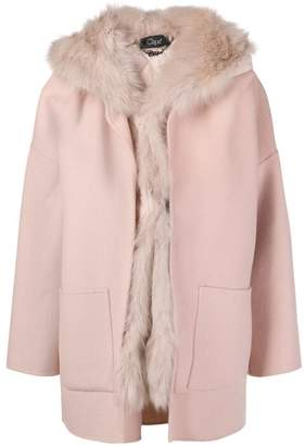 Clips hooded coat