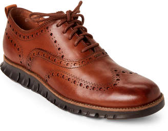 Cole Haan British Tan Zerogrand Wingtip Oxfords