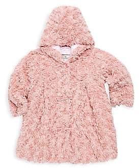 Widgeon Widgeon Little Girl's Bow Faux Fur Coat