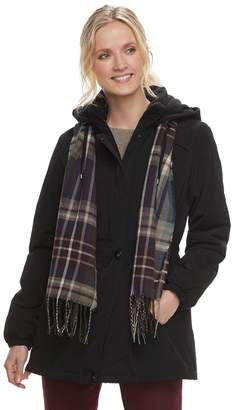Gallery Women's Hooded Faux-Silk Anorak Jacket