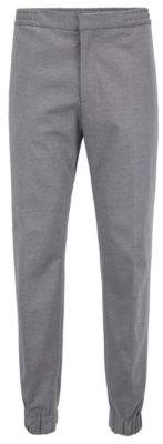BOSS Hugo Slim-fit tailored pants cuffed hems 32R Grey