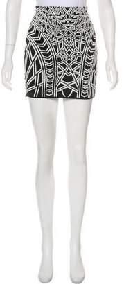 RVN Jacquard Mini Skirt