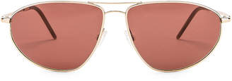 Oliver Peoples Kallen Sunglasses in Soft Gold & Rosewood | FWRD