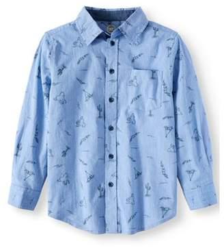 Wonder Nation Long Sleeve Woven Shirts (Little Boys & Big Boys)
