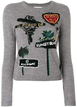 Alice + Olivia Alice+Olivia LA embroidered jumper