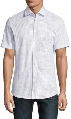 Stone Rose Men's Polka-Dot Short Sleeve Shirt