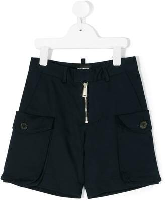 DSQUARED2 front zip shorts