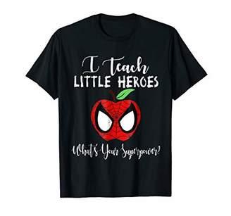 Cute I Teach Little Heroes T-Shirt Teacher Gift