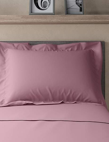 Pure Egyptian Cotton 230 Thread Count Oxford Pillowcase with StayNEWTM