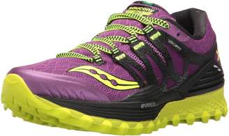 Saucony Women's Xodus ISO Running Shoes, Purple/Citron