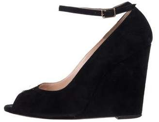 Jerome Dreyfuss Suede Ankle Strap Wedges