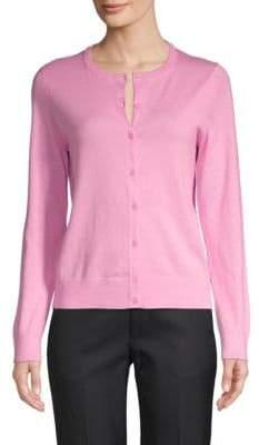 Saks Fifth Avenue Cotton Silk Cashmere Blend Cardigan