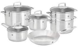 Zwilling J.A. Henckels 10-Piece Quadro 18/10 Stainless Steel Cookware Set - Induction Ready
