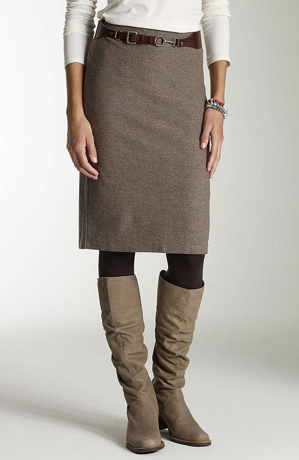 J. Jill Knit tweed pencil skirt