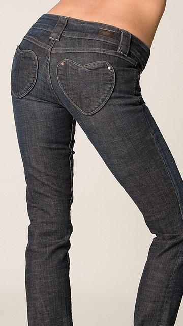 Juicy Couture Skinny Long Heart Pocket Jean