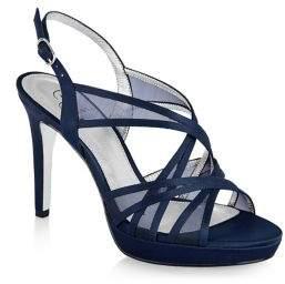 Adrianna Papell Adri Strappy Satin Platform Sandals