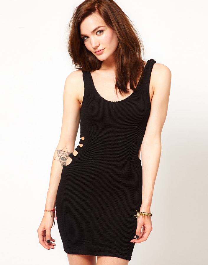 Tripp NYC Bodycon Dress with Cut Out Sides